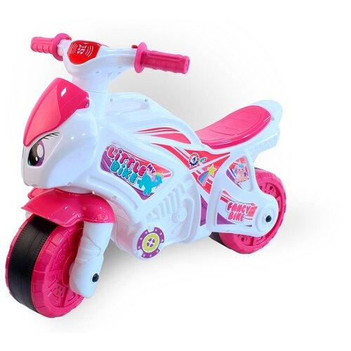 Купить Каталка-толокар ТехноК Мотоцикл (6368) белый/розовый, Каталки и качалки