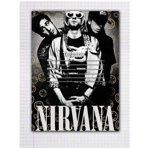 Купить Набор тетрадей 5 штук, 12 листов в клетку с рисунком Nirvana, Drabs, Тетради