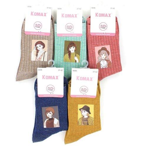 Женские носки Komax 6696-1 хлопок р 37-42 5 пар