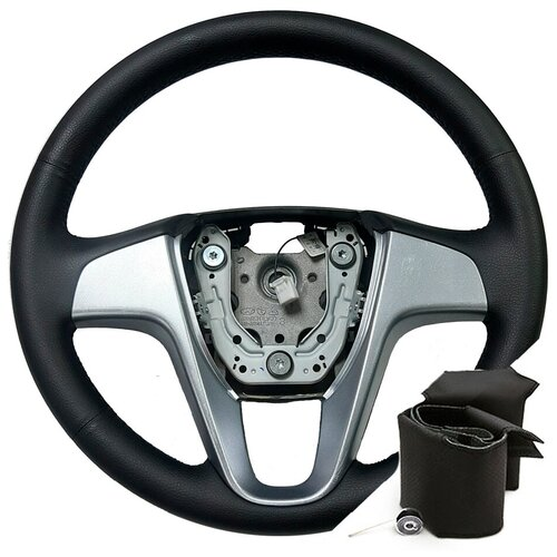 Оплетка для руля Hyundai Solaris (2011-2017 г.в.) - черная нить