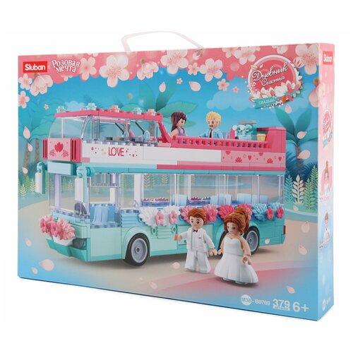 Фото - Конструктор SLUBAN Розовая мечта M38-B0769 Свадебный автобус конструктор свадебный автобус 379дет sluban м38 в0769