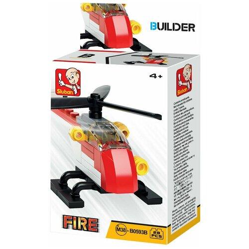 Фото - Конструктор SLUBAN Builder М38-В0593B Пожарный вертолет конструктор свадебный автобус 379дет sluban м38 в0769