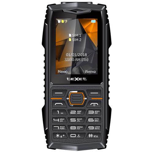 Телефон teXet TM-519R (с камерой) черный/оранжевый