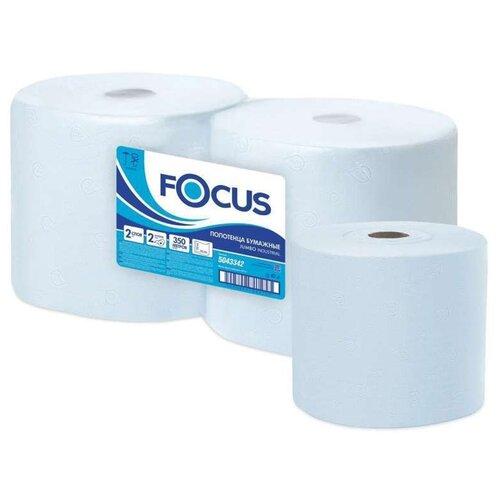 Купить Бумага протирочная FOCUS (Система W1) Jumbo, 2-слойная, КОМПЛЕКТ 2 рулона, 350 м, 1000 листов, лист 24х35, 5043342