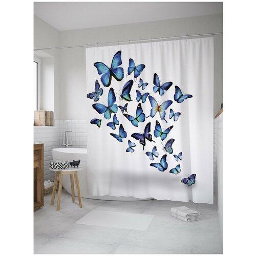 Фото - Штора для ванной JoyArty Порхающие бабочки 180х200 (sc-11024) штора для ванной joyarty прыгучая бабочка 180х200 sc 16368
