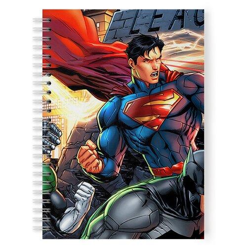 Купить Тетрадь 48 листов в клетку с рисунком Супергерои, Drabs, Тетради