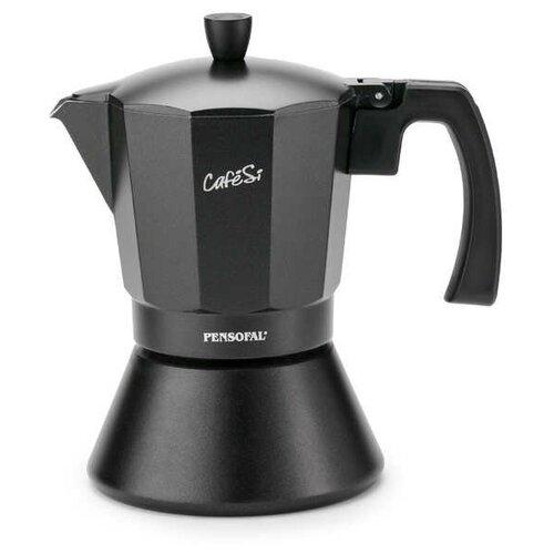 Фото - Гейзерная кофеварка Pensofal CafeSi Noir PEN 8409 (470 мл) на 9 чашек, черный гейзерная кофеварка на 6 чашек 350 мл pensofal