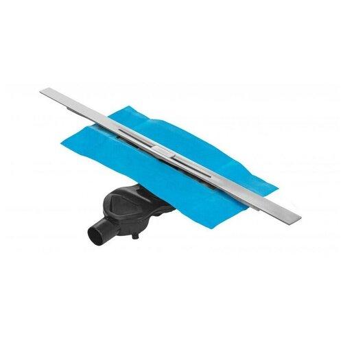 Желоб BERGES водосток SIMPEL 800 матовый хром, S-сифон D50 H60 боковой 090112
