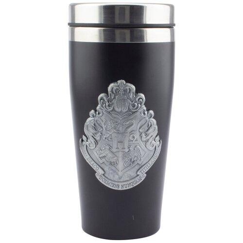 Термокружка Paladone Hogwarts Travel Mug with Metal Badge, 0.45 л черный
