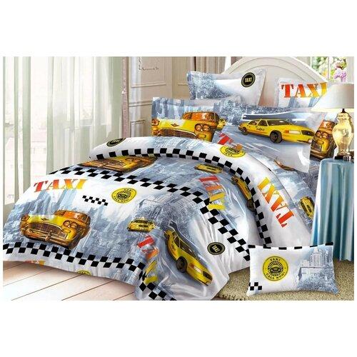 Комплект постельного белья бязь люкс эльф такси мобайл 1.5 спальный