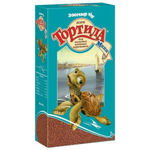 Сухой корм для рептилий Зоомир Тортила Мини для молодых водяных черепах 90 г