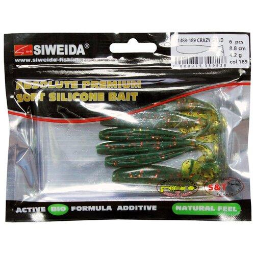 Набор приманок резина SIWEIDA Crazy Shad виброхвост цв. 189 6 шт.