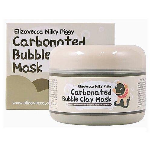 Маска для лица очищающая пузырьковая с глиной ELIZAVECCA Carbonated Bubble Clay Mask 100 гр. urban dollkiss глиняно пузырьковая маска с угольным порошком carbonated bubble charcoal clay mask 100 мл