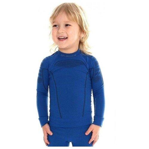 Термобелье детское для мальчиков Brubeck футболка с длинным рукавом THERMO голубой 104-110