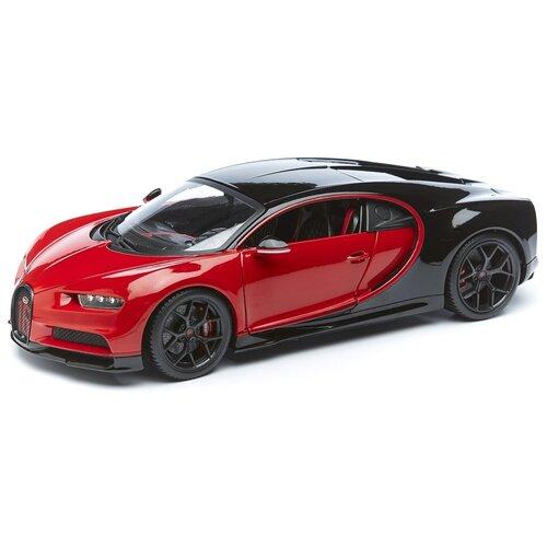Фото - Гоночная машина Bburago Bugatti Chiron Sport (18-11044) 1:18, 25 см, красный/черный гоночная машина rastar bugatti veyron grand sport vitesse 53900 1 18 черный