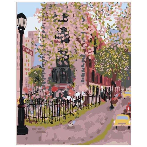 Купить Цветущий город Раскраска картина по номерам на холсте Z-NA1 40х50, Живопись по номерам, Картины по номерам и контурам
