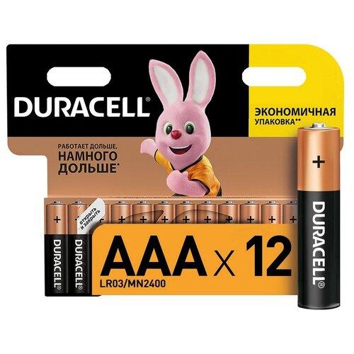 Фото - Батарейки Duracell размера AAA 12 шт батарейки duracell размера aa 60 шт