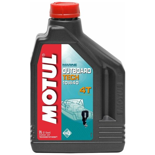 Полусинтетическое моторное масло Motul Outboard Tech 4T 10W40, 2 л