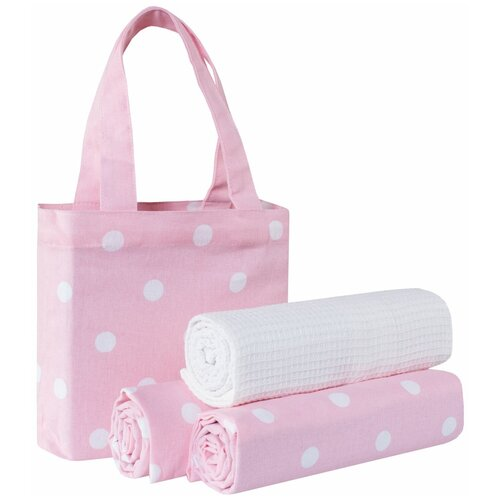 Guten Morgen набор полотенец в сумке Горох кухонное 45х70 см розовый arya набор полотенец bahar b птицы кухонное 40х60 см экрю розовый