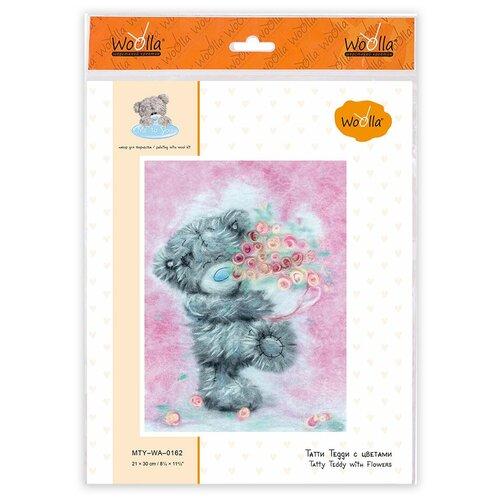 Купить Woolla MTY-WA-0162 набор Татти Тедди с цветами ., Валяние