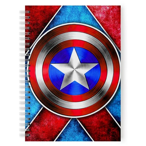 Купить Тетрадь 48 листов в клетку с рисунком Капитан Америка Зведа, Drabs, Тетради