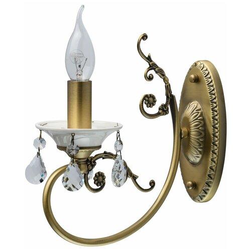 Настенный светильник MW-Light Свеча 683022301, E14, 60 Вт, кол-во ламп: 1 шт., цвет арматуры: золотой настенный светильник mw light свеча 683022301 60 вт
