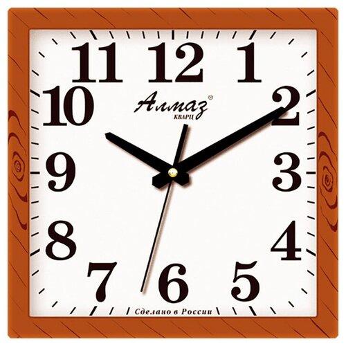Фото - Часы настенные кварцевые Алмаз K31 коричневый часы настенные кварцевые алмаз b97 коричневый бежевый