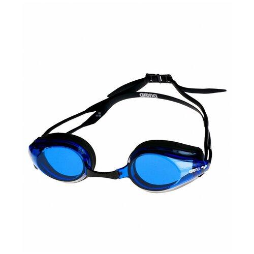 Фото - Очки для плавания arena Tracks 92341, black/blue/black очки для плавания arena zoom neoprene 92279 black clear black