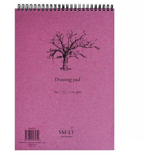Альбом для эскизов Smiltainis Drawing pad 29.7 х 21 см (A4), 120 г/м², 60 л., Альбомы для рисования  - купить со скидкой