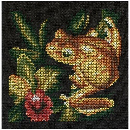 Купить PANNA Набор для вышивания Золотая лягушка 12.5 x 12.5 см (Ж-0399), Наборы для вышивания