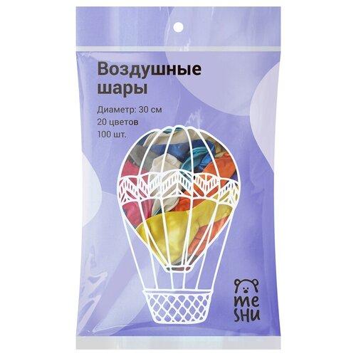 Набор воздушных шаров MESHU металлик (100 шт.) набор воздушных шаров miraculous металлик 100 шт синий