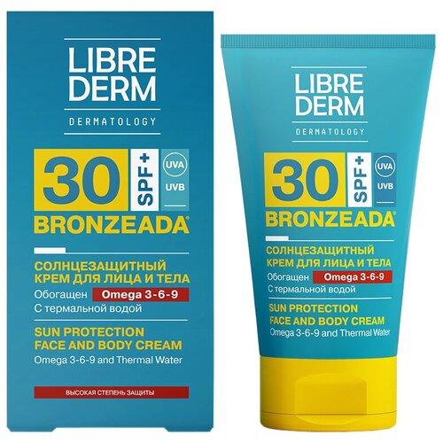 Купить Librederm Bronzeada солнцезащитный крем для лица и тела Omega 3-6-9 SPF 30 150 мл