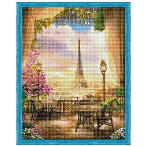 Алмазная вышивка Цветной Кафе в Париже, 50x40