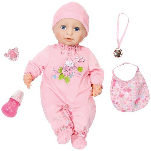 Фото - Интерактивная кукла Zapf Creation Baby Annabell 43 см 794-821 бутылочка zapf creation baby annabell 700 976 розовый
