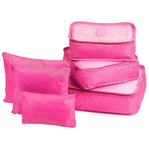 Органайзеры комплект 6 штук однотонные, цвет розовый