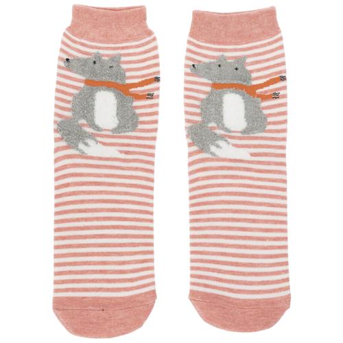 Носки Kawaii Factory Лиса, размер 36-38, серый