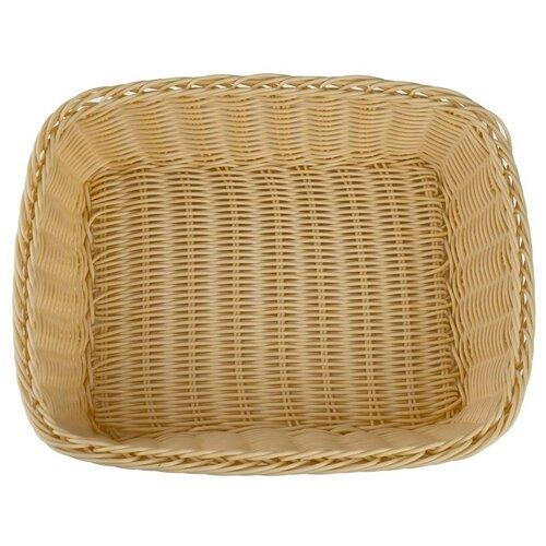 Корзинка для хлеба Gastrorag плетеная прямоугольная, бежевый
