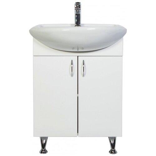 Фото - Тумба для ванной комнаты с раковиной Orange Роса Ro-50TU, ШхГхВ: 51х41х82 см, цвет: белый тумба для ванной комнаты с раковиной am pm like напольная шхгхв 80х45х85 см цвет белый глянец