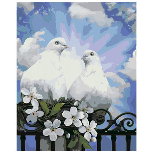 Пара голубей живопись на холсте 40х50 ( CM0045 )