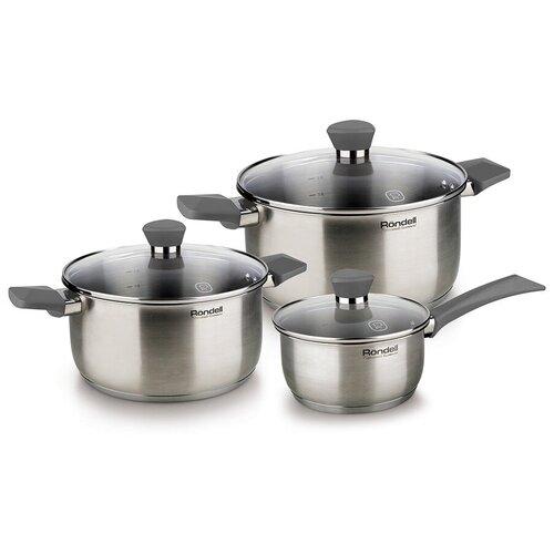 Набор посуды Rondell Strike RDS-820 6 пр. стальной набор посуды rondell rds 1003