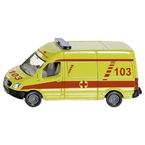 Фото - Набор машин Siku 1819RUS 1:55, белый/желтый/красный набор машин siku тягач с яхтой 1849 1 87 27 см красный белый