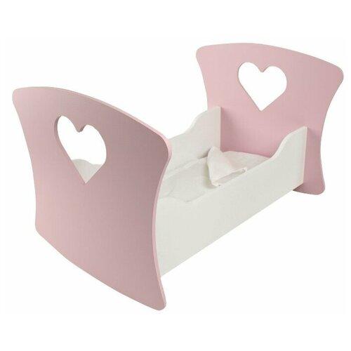 PAREMO Люлька для кукол Мини Сердце (PFD120-M) светло-розовый