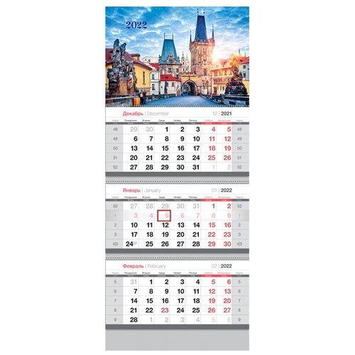 Купить Календарь квартальный настенный на 2022 год Prague , OfficeSpace, Календари
