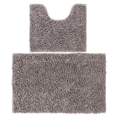 Фото - Комплект ковриков EL CASA 990356, 80х50 см и 50х45 см серый комплект el casa el casa mp002xu0e0zv