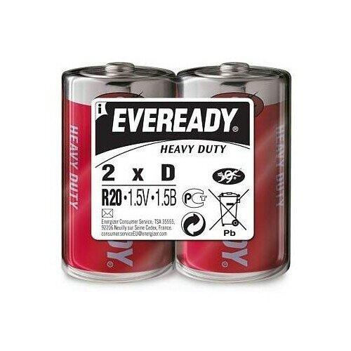 Фото - Батарейка Energizer Eveready R20 Heavy Duty, 2 шт. батарейка energizer max plus aa 4 шт