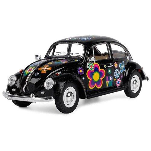 Купить Легковой автомобиль Serinity Toys Volkswagen Classical Beetle 1967 (7002DFKT) 1:24, 16 см, черный, Машинки и техника