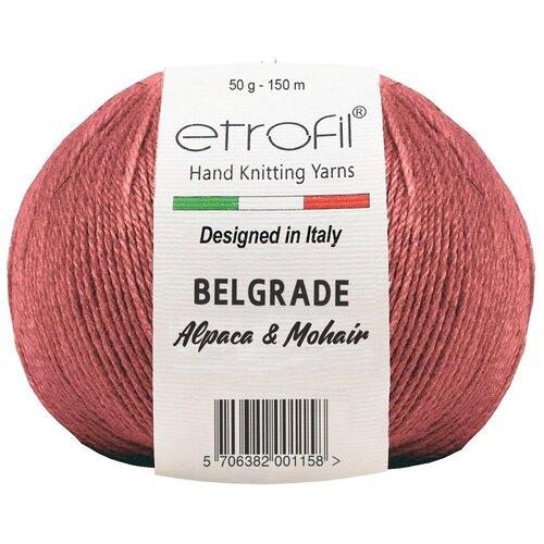Купить Пряжа Etrofil 'BELGRADE' 50гр 125м (10% кид мохер, 5% беби альпака, 55% полиамид, 30% вискоза) (70335 бургундия) 10 шт