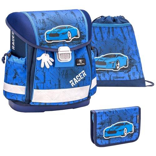 Купить Ранец Belmil Classy - Racer-2, Машина, синий, с наполнением, Рюкзаки, ранцы