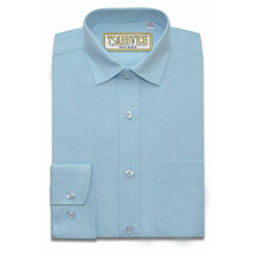 Рубашка Tsarevich размер 34/146-152, светло-голубой