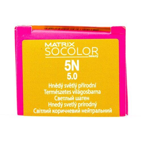 Купить Matrix Socolor Beauty стойкая крем-краска для волос, 5N светлый шатен, 90 мл